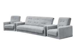 Комплект Лондон-2 рогожка серая (диван + 2 кресла)